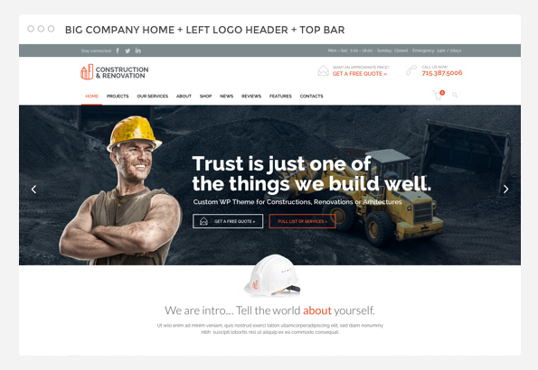 Builder Construction Architect Renovation theme
