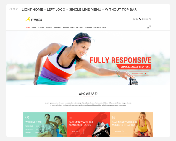 Fitness Sport Gym Responsive Theme